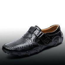 Handmade Homens Sapatos Flats Anti Deslizamento Preguiçosos Mocassins de Couro Genuíno Casual Sapatos de Condução, Macia E Massagem Homens Sapatos 2 # D35(China (Mainland))