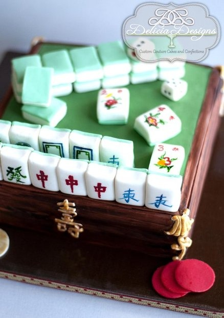 Cake Design For Mother In Law : 20 best images about Mahjong on Pinterest Facebook, Cake ...