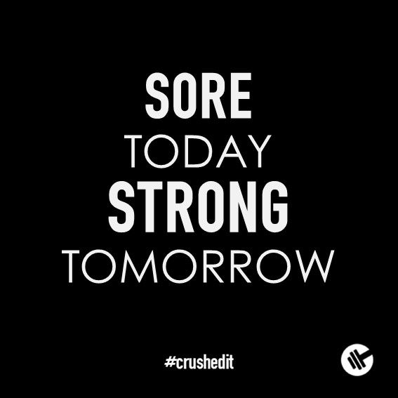 Sore today. Strong tomorrow. #fitness #quote #motivation #gym #workout #supplements #sports
