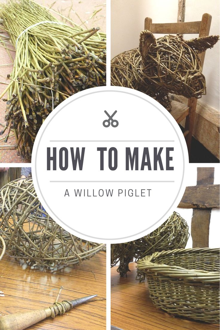 Click through to discover how to make a beautiful willow piglet - we take part in a willow workshop with Eddie Glew