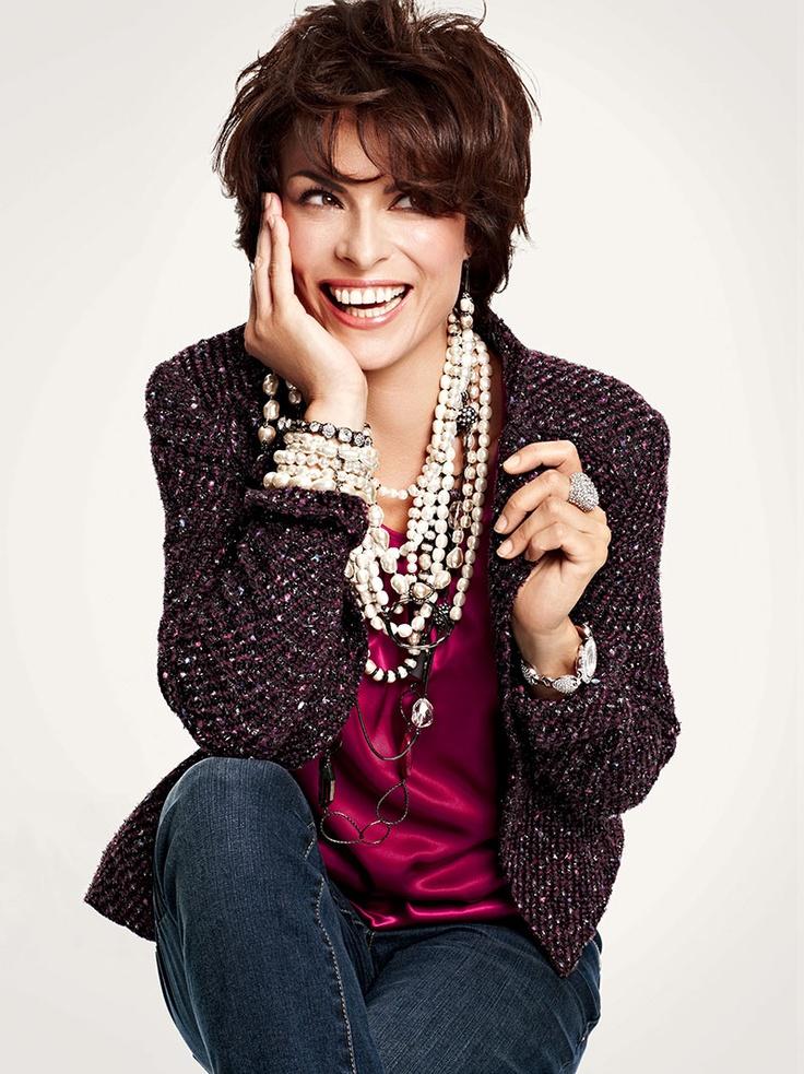 Scene Stealers #chicos..cute tweed blazer, pearls, and silk top