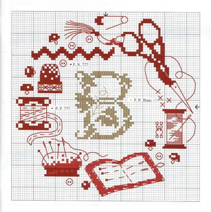 Sew cross stitch