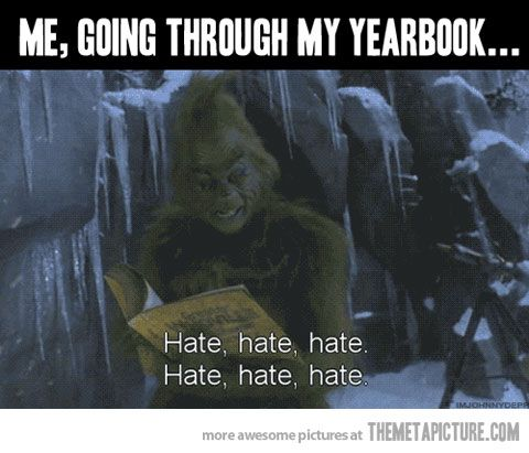 Going through my yearbook…