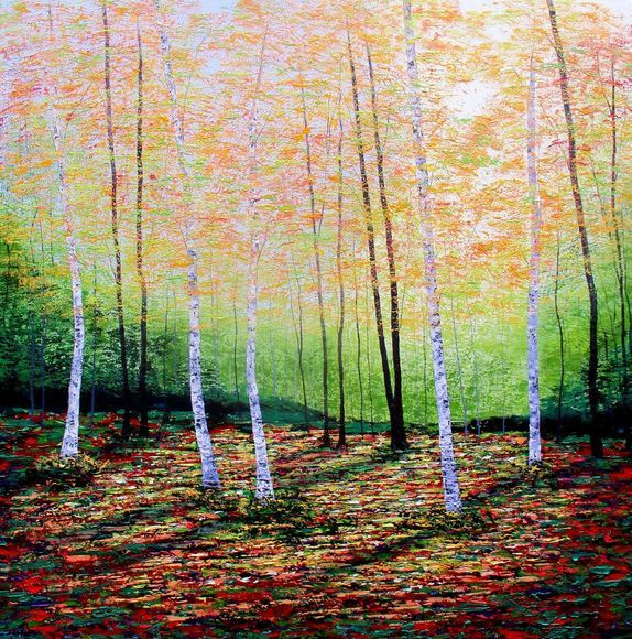 Golden Leaves, Silver Birches.