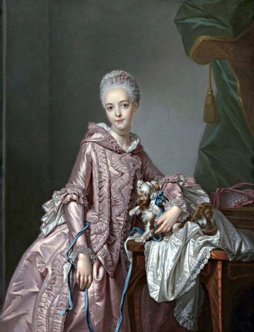 Portrait of a Girl Holding a Spaniel by Alexander Roslin, c. mid 18th century