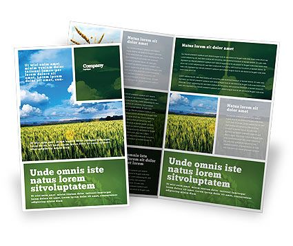52 best design sell sheets images on pinterest for Agriculture brochure templates