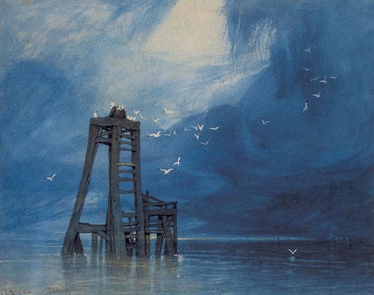 1832 Study of Sea and Gulls