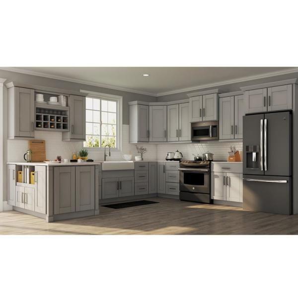 36+ Home depot grey shaker cabinets best