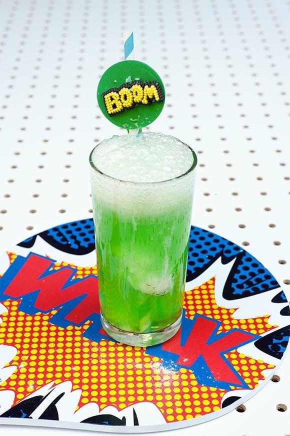 Super Science Party Drinks for Kids: The Exploding Super Hero Slammer