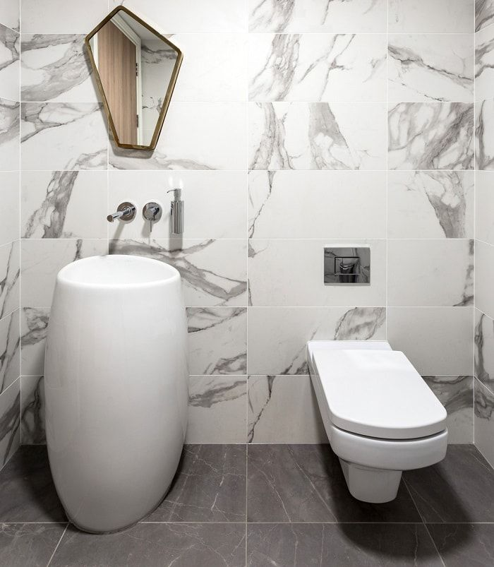 Marble Bathroom Inspiration Featuring Marble Effect Matte White Calacatta Wall Tiles From Tilestyle In 2020 Wood Floors Marble Bathroom Bathroom Inspiration