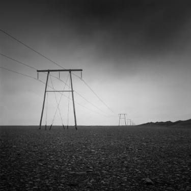 """Saatchi Art Artist Marcin Zuberek; Photography, """"Power Poles from the series: Strong Currents - Iceland 