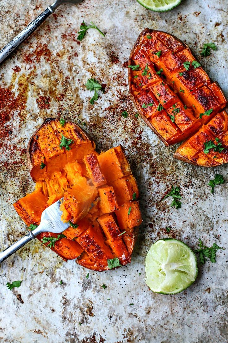 Chili + Honey Roasted Sweet Potatoes With Lime Juice | Killing Thyme