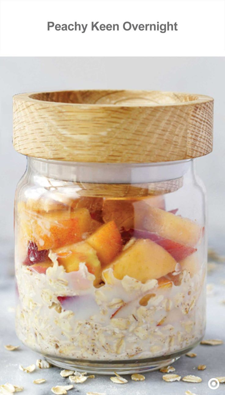 wake up to something wonderful this easy overnight oatmeal is rich with the peachy taste