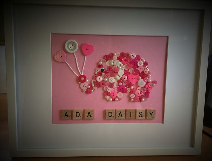 Personalised Button Art