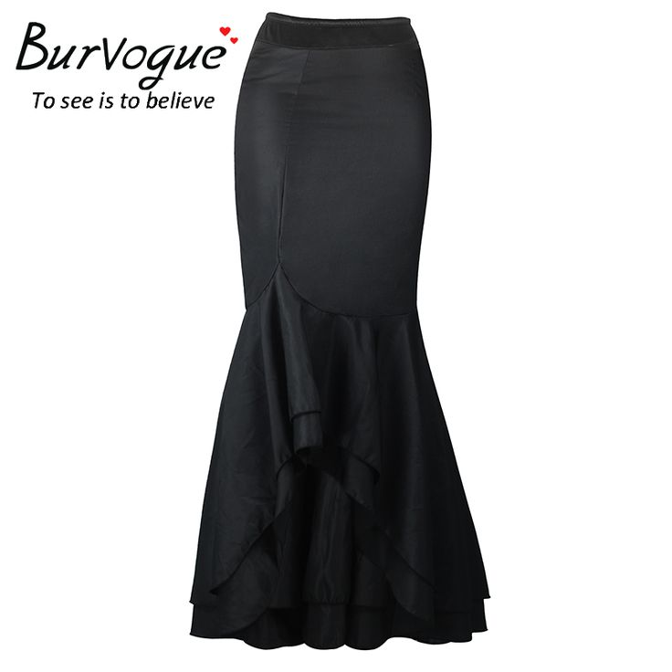 Cheap skirt hanger, Buy Quality skirt flashing directly from China skirt clothes Suppliers: Burvogue Fashion Stylish Mermaid Skirt Vestidos Perspective Long Maxi Skirts Black Sexy Steampunk High Waist Skirts