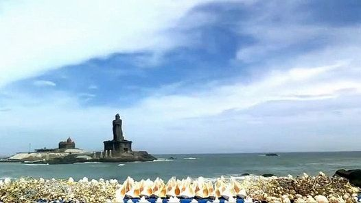Vivekananda Rock Memorial is a popular tourist monument in Vavathurai, Kanyakumari, India. The memorial stands on one of two rocks located about 500 meters east off mainland of Vavathurai, India's southernmost tip. It was built in 1970 in honour of Swami Vivekananda who is said to have attained enlightenment on the rock. According to local legends, it was on this rock that Goddess Kumari performed austerity. A meditation hall (Dhyana Mandapam) is also attached to the memorial for visitor...