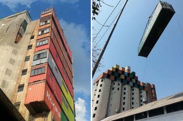 Da vecchi container ad appartamenti efficienti per studenti, installati sui silos (FOTO)