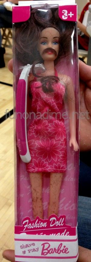 Shave and Play Barbie - White Elephant Gift Idea i did this last Christmas