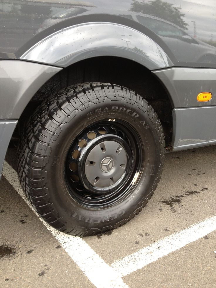 Mercedes sprinter with all terrain tyres