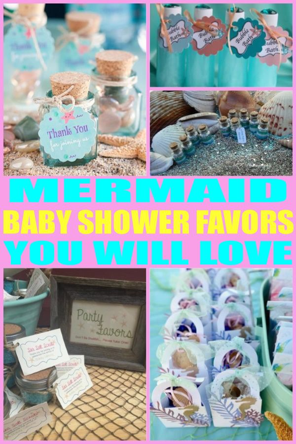 Mermaid Baby Shower Favors Best Baby Shower Party Favor Ideas