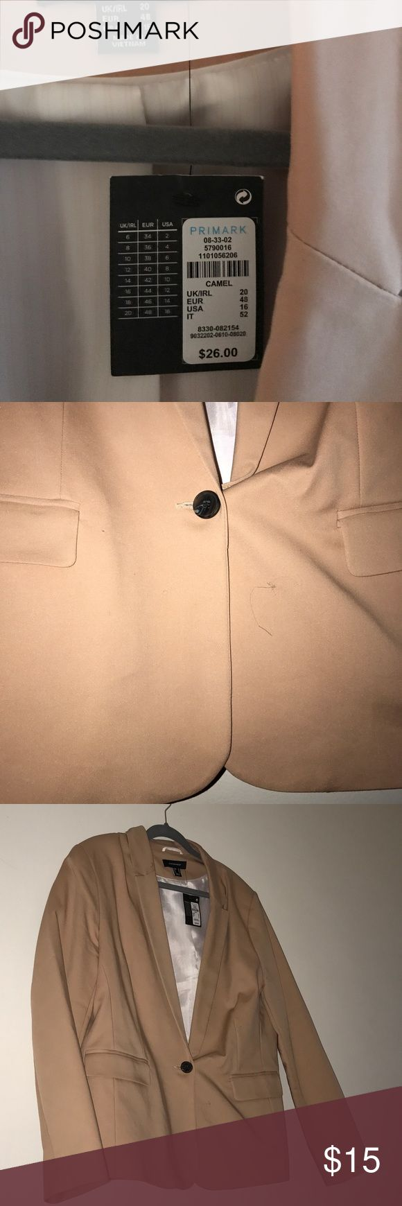 Blazer Brand new never worn tried to get true color in photo it's taupe with a pinkish tinge if that makes sense ? primark Jackets & Coats Blazers