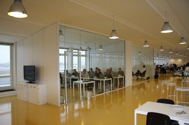 Enalyzer, HQ, Copenhagen. Office view.  Meeting rooms and office space