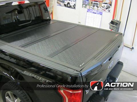 Flex tonneau cover by UnderCover Tonneau Covers installed on this 2016 Ford F150 by our store in Belleville, ON #ProfessionalGradeInstallation