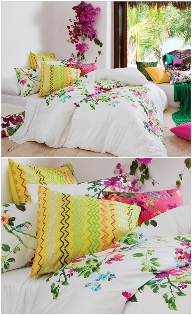 KAS Australia This quilt is what we call class. Majorly it is white and has a floral vine print over it adding a subtle touch to it. This hand painted quilt will cost you $229.95.