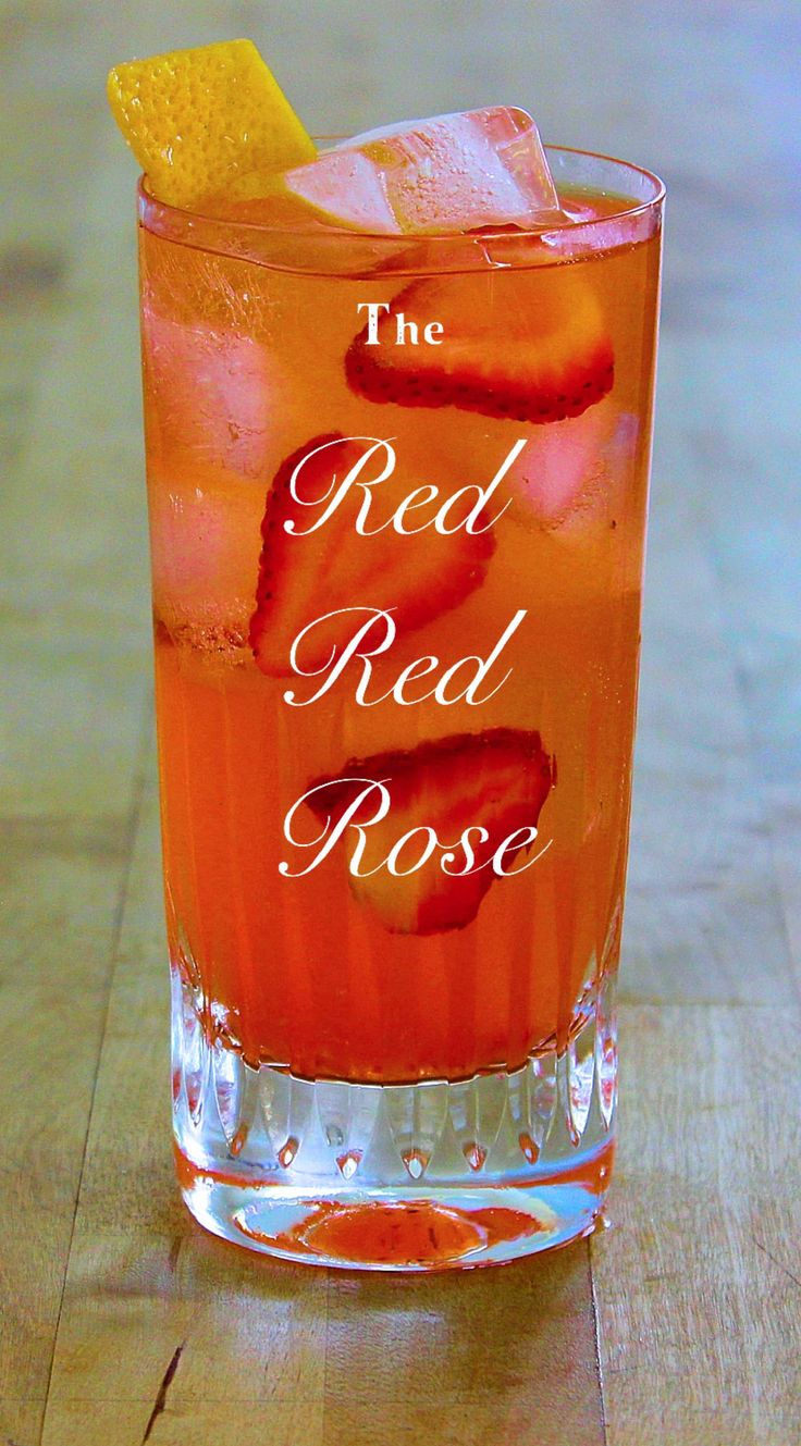 The Red Red Rose, a French 75 meets an Aperol Spritz, plus strawberry.  Aka the …