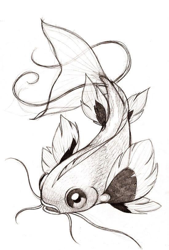 Zeichnung in Farbe zum Drucken: Tiere – Fisch Numm…