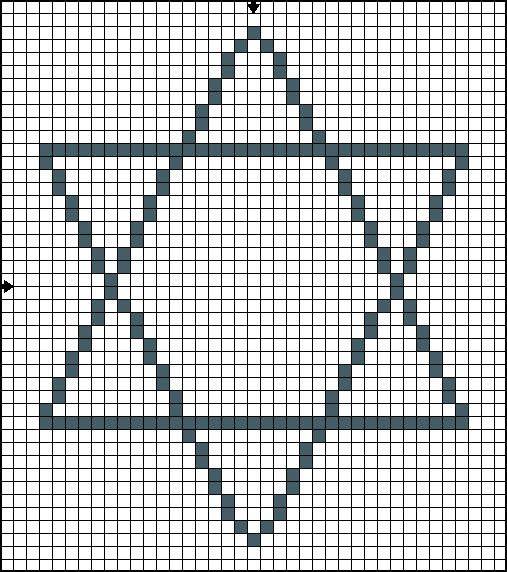 (half) x stitch chart