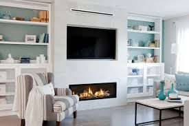 Image Result For Low Linear Fireplace On P Out With Tv Above