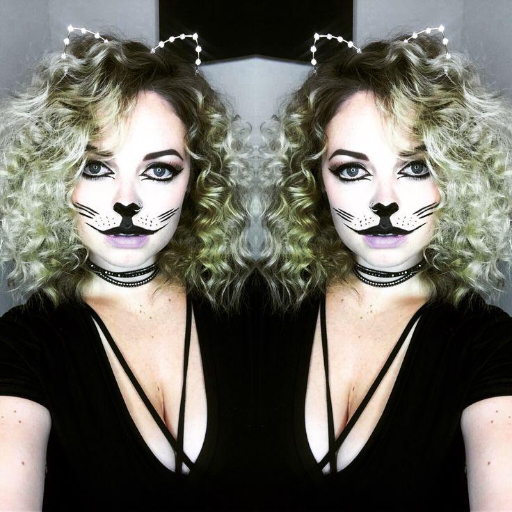 Halloween cat makeup 😻