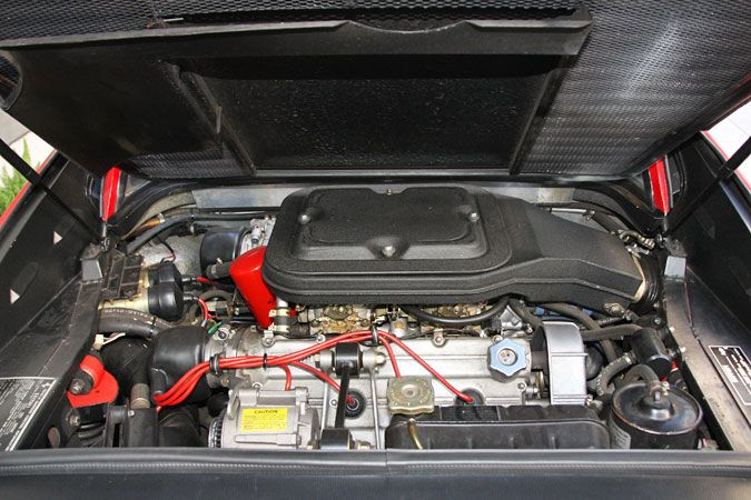1979 Ferrari 308 GTS Serial Number 27705-Engine bay from rear