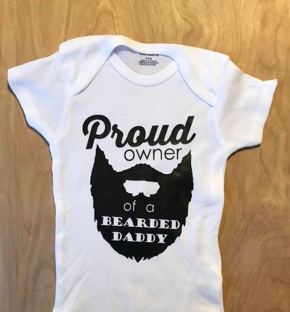 f573b539e50 proud owner of a bearded daddy onesie, gerber onesie, bearded dad onesie,  beard funny baby bodysuit baby shower gift pregnancy announcement