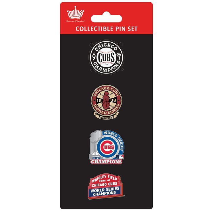 Chicago Cubs 2016 World Series Champions Multi-Champs Pin Set by Aminco at SportsWorldChicago.com