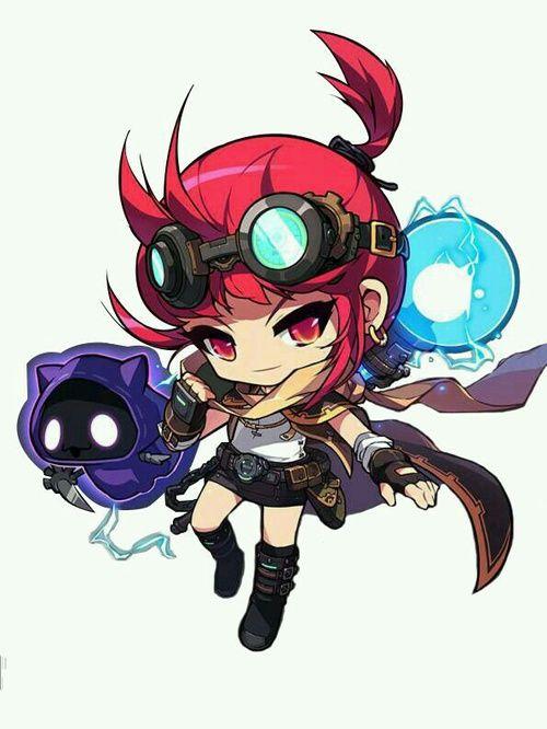 Imagem de anime girl, chibi, and fan art