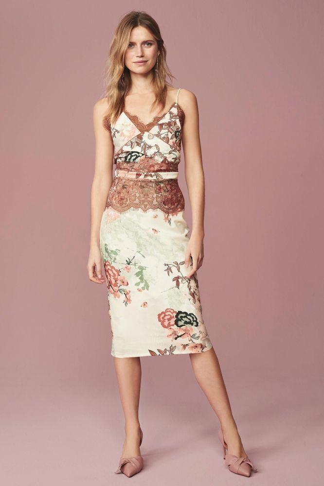 775e631a1d1e Next Cream Floral Bodycon Dress Petite Size UK 16 LF076 BB 17  fashion   clothing  shoes  accessories  womensclothing  dresses (ebay link)