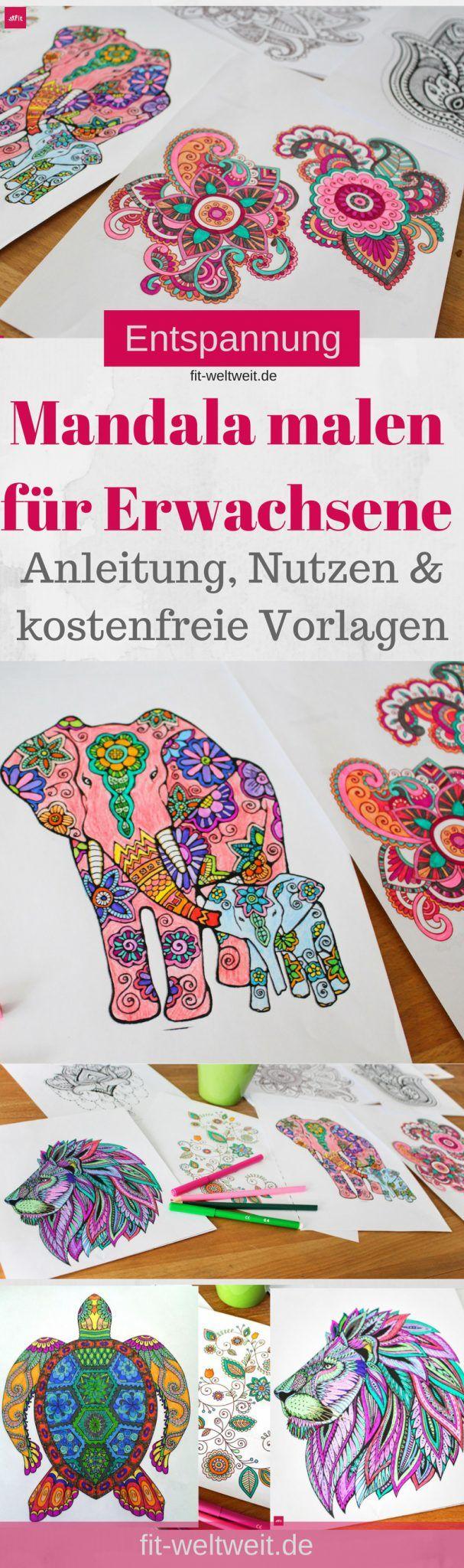 Mandala malen online Vorlagen - Löwe, #Elefant, Blumen als Entspannung für Erwachsene das beste was es für die Seele gibt. Stress abbauen. Für Erwachsen, Kinder und Senioren. Die Anleitung und auch DIY Videos zum selber #Mandala erstellen findest du in diesem ausführlichen Blogpost. :-)Mandala malen für Erwachsene als Entspannung - Stress abbauen ud entspannen. Gut für Erwachsen, Kinder und Senioren. Die Anleitung und auch DIY Videos, Mandala malen #Vorlagen