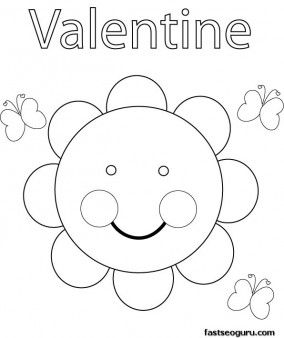 Print out Valentine Sun Coloring Pages - Printable Coloring Pages For Kids