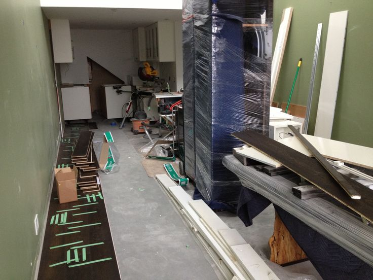 Messy job site conditions at the time of installation lead to flooring problems