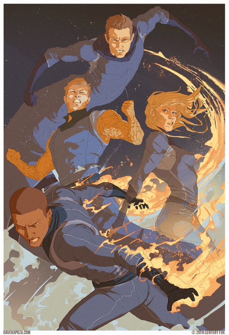 Dave Rapoza The Rejected Fantastic Four Concept Posters Are About 4,000 Percent Better Than the Movie
