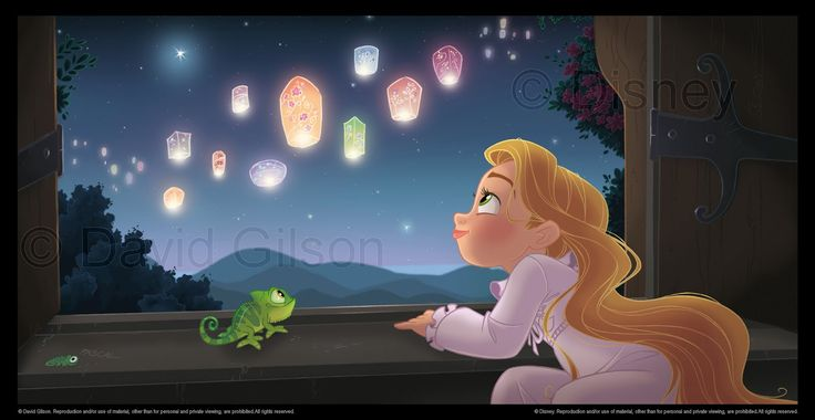 Disney Tangled, Disney Princesses, David Gilson, Disney Pixar, Disney Artworks, Dreams Come True, Baby Rapunzel, Fans Art, Little Princesses