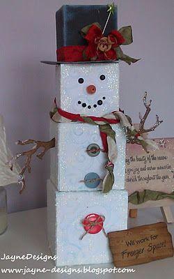 Snowman boxes: Blog Hop, Christmas Crafts, Diy Crafts, Craft Spot, Christmas Ideas, Winter Release, Jaynedesigns, Release Blog