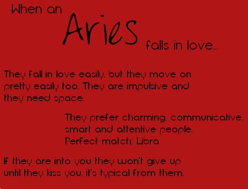 Signs an aries man is in love with you