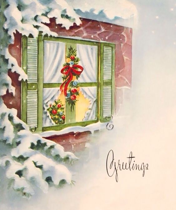 349 best Christmas: Doors and Windows Cards images on ...