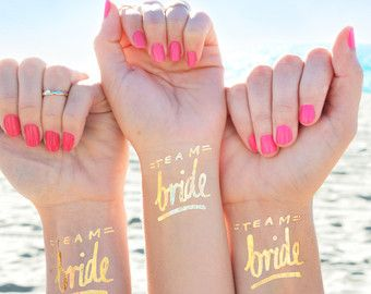 Single 'Team Bride' tattoo©bachelorette party by DAYDREAMPRINTS
