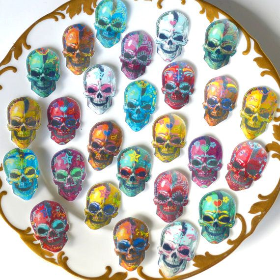 Edible Calavera Sugar Skulls Day of the Dead by WicksteadsEatMe