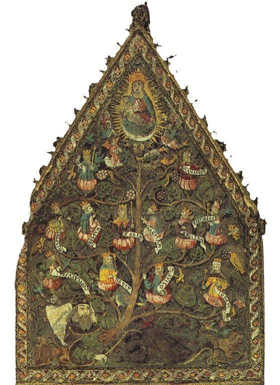 Maria con il sacro albero di Jesse ( anonimo)