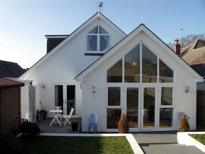 House extension with Gable end windows